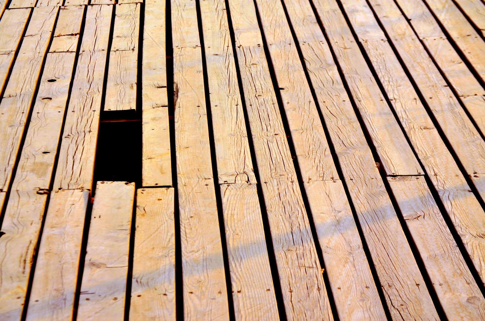 Broken Timber Decking Material