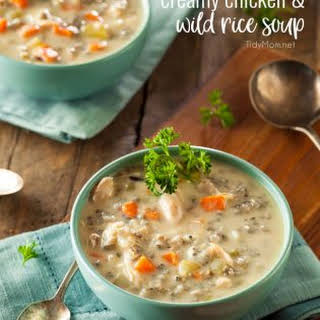 Creamy Chicken And Wild Rice Soup.
