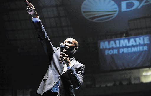 HEIR, APPARENTLY: The DA's Mmusi Maimane works the crowd
