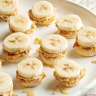 Crunchy Peanut Butter-Coconut Bananas