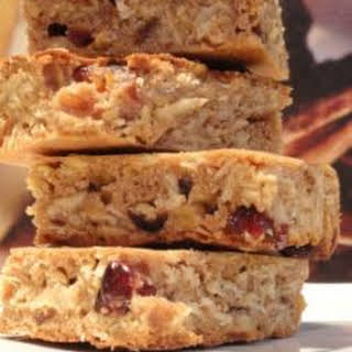 Cranberry and Oat Slices.