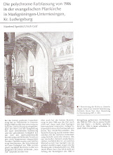 Photo: Markgröningen Unterriexingen Baden Württemberg Denkmalpflege Bruno Taut & Franz Mutzenbecher 1906  Dagegen sind die Ausmalungen in der Dorfkirche Nieden in der Uckermark nördlich von Berlin erhalten aber in einem desolaten Zustand