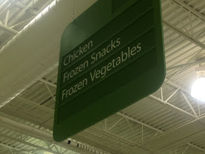 Photo: Walmart was pretty empty. I quickly found out for where the frozen chicken nuggets were located.