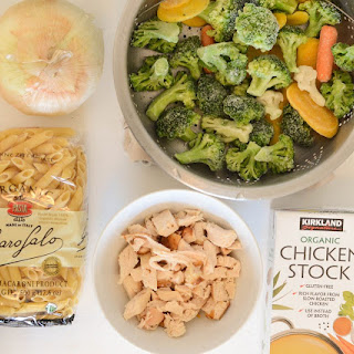 Quick and Easy Chicken and Vegetable Baked Pasta.