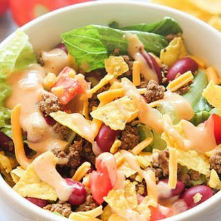 Taco Salad Thousand Island Dressing Ground Beef Recipes