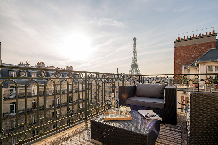 Exterior of Eiffel Tower apartment