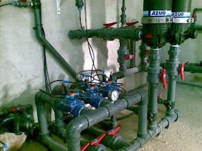Photo: En Murcia aprovechamos cada gota de agua con tecnologia. Este es el sistema de mi padre en El Campillo