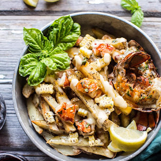 Sweet Chili Butter Grilled Lobster Fries with Aged Havarti Cheese. Recipe