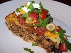 Seven Layer Impossible Taco Pie Recipe