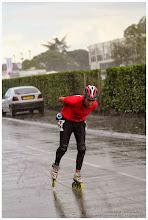 Photo: On voit clairement les traits de pluies sur la photo -- Bertrand semble apprécier particulièrement :-)
