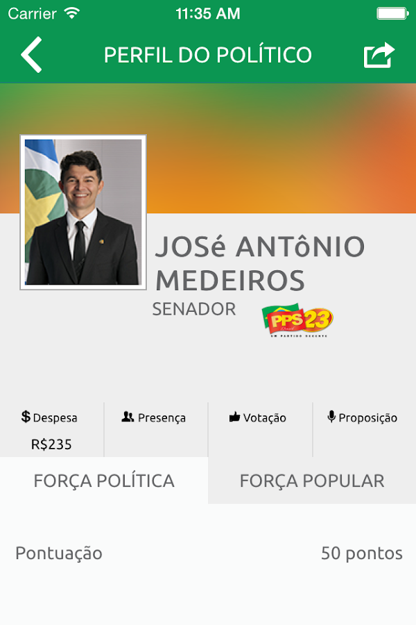 Vida Política- screenshot