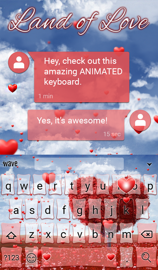 Land of Love Animated Keyboard- screenshot