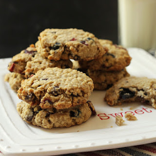 Cranberry Blueberry Oatmeal Cookies.