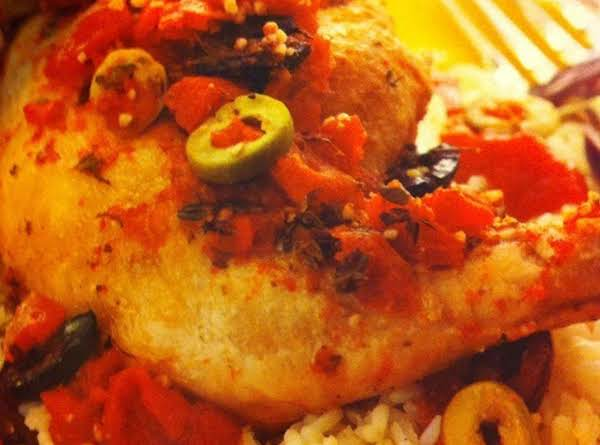 Mediterranean Chicken With Olives And Tomatoes