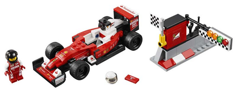 Contenido de Lego® 75879 SF16-H de la Escudería Ferrari