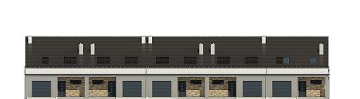 Mazurek z garażem 1-st. szeregówka A-SZ - Elewacja przednia