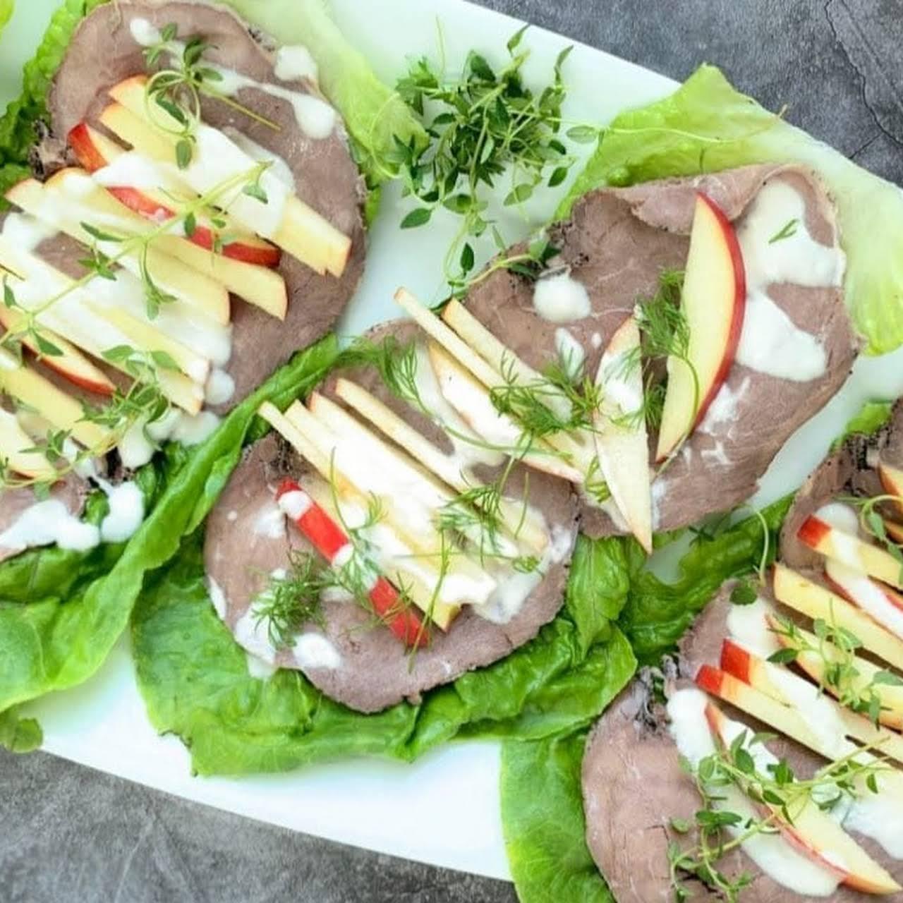 Roast Beef Lettuce Wraps