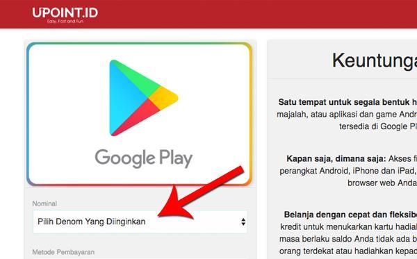Upoint Id Cara Beli Voucher Google Play Di Alfamart Atau Kantor Pos Via Upoint