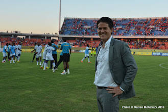 Photo: Full Time: Coach McKinstry and Rwanda Amavubi celebrate a 1-0 victory over Mozambique in opening AFCON2017 Qualifier. [Rwanda Amavubi v Mozambique 14 June 2015 (Pic © Darren McKinstry / www.johnnymckinstry.com)]