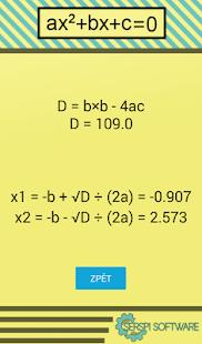 Kvadratické rovnice - náhled