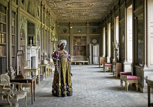 A still from Yinka Shonibare's performance piece 'Addio del Passato' is on show at the museum.