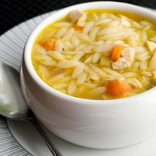 Turkey Orzo Soup.