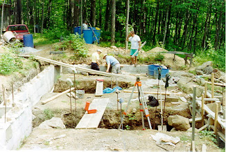 Photo: It took us 2 years to dig the hole for the foundation and pour the footings and basement walls.