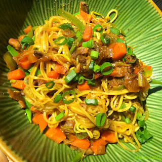 Chinese Chow Mein noodles.