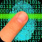 Lie detector fingerprint Joke icon