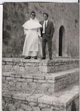 Photo: Luis Manuel Selva Sánchez (que en paz descanse) y Martín Fernández Alonso en Caleruega.