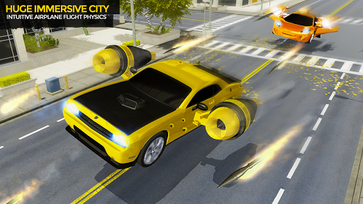Flying Car Shooting Game: Modern Car Games 2020 apkmr screenshots 2