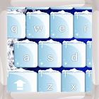 Cristales de hielo teclados icon