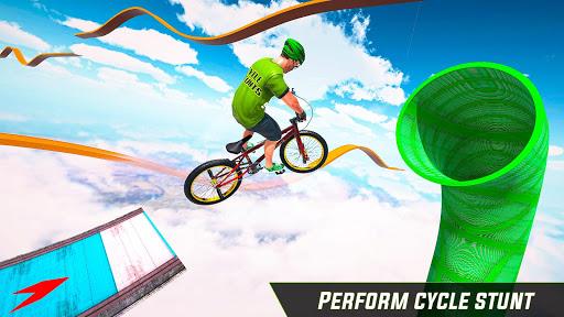 BMX Cycle Stunt Game: Mega Ramp Bicycle Racing modavailable screenshots 4