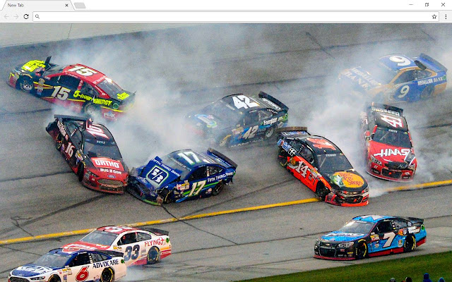 Nascar Racing Cars Background New Tab