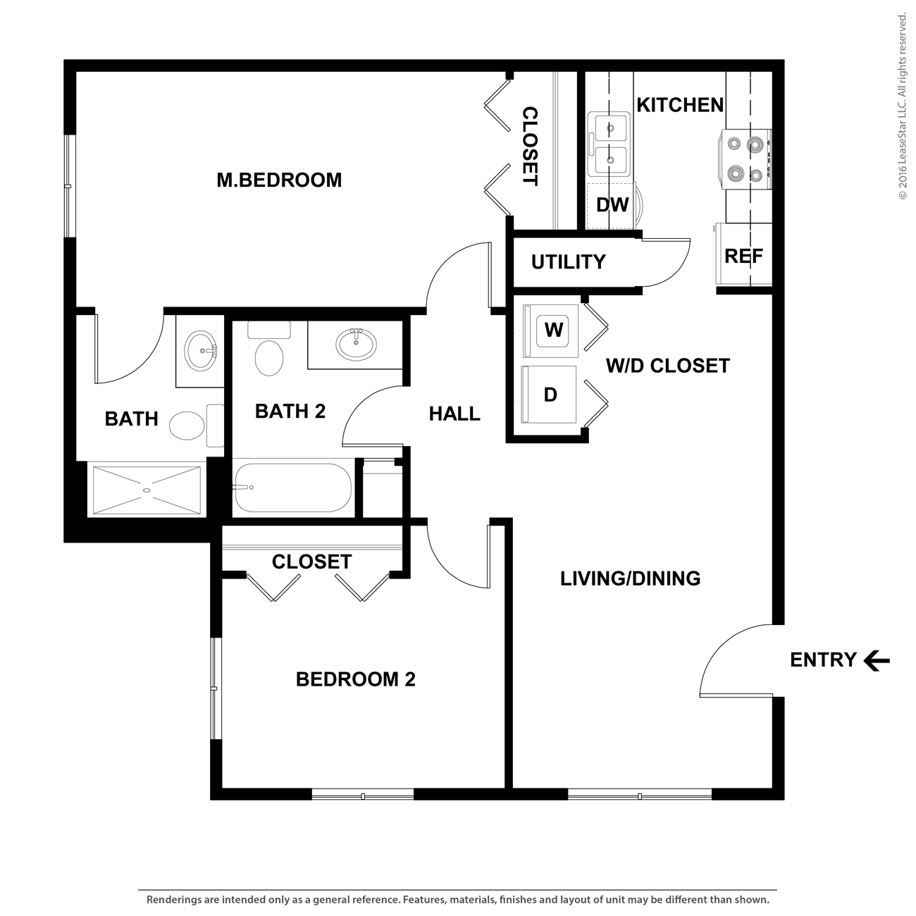 Apartments In Jefferson City Mo: Reagan Floorplan (2 Bed, 2 Bath)