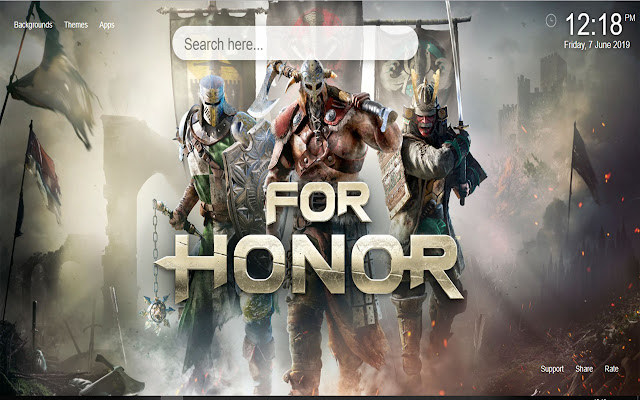 For Honor Wallpapers HD New Tab