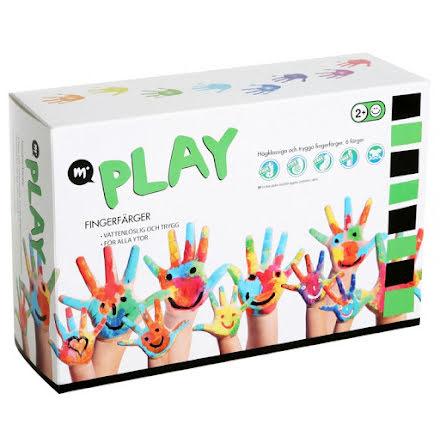 Fingerfärger, 6 färger, Martinex