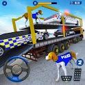 US Police Multi Level Car Transporter Truck 2020 icon
