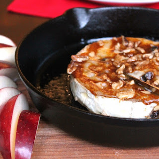 Baked Brie with Pumpkin Butter and Walnuts