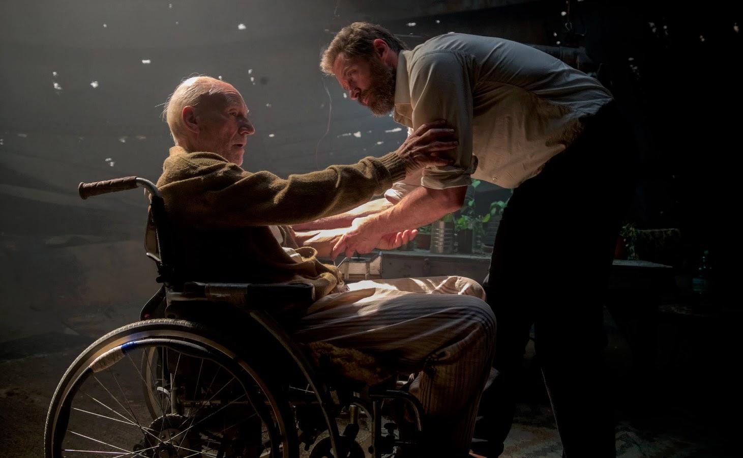 Logan Wolverine i profesor Charles Xavier