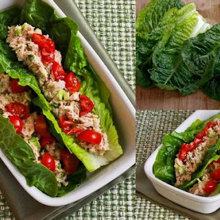 Roll Of Lettuce With Tuna