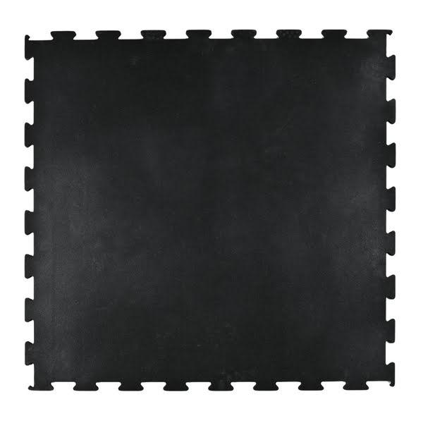 Gummigolv pussel 10mm, svart 1x1m