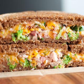 Broccoli Ham Grilled Cheese Sandwich.