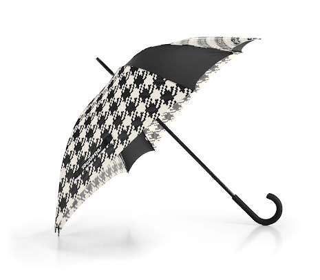 Paraply Stick Stormsäkert Houndtooth