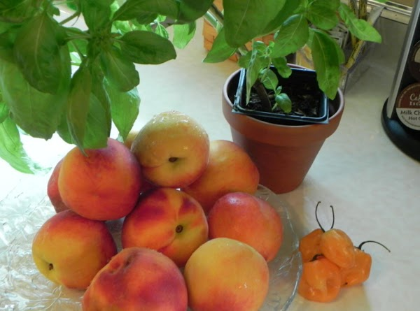 Peel and pit your peaches. Peel them by placing in boiling water for 20...