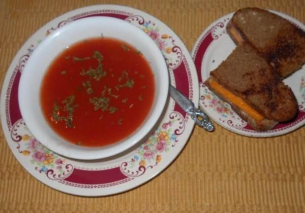 Spicy Clear  Tomato Soup W/a Vegg Base Recipe