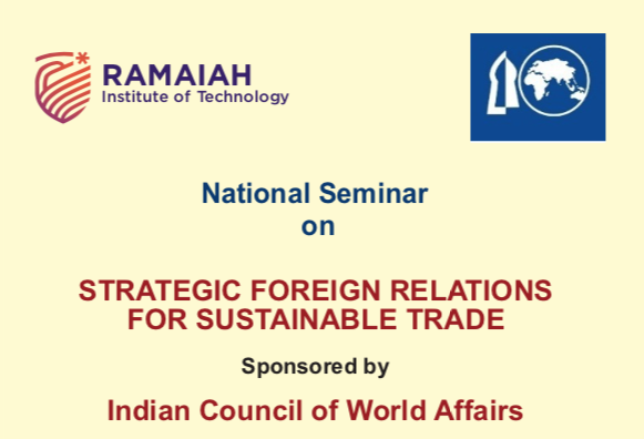 National Seminar on Strategic Foreign Relations for Sustainable Trade