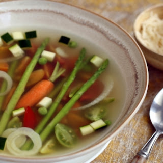 Spring Vegetable Soup with Basil Pesto (Pictured) Recipe