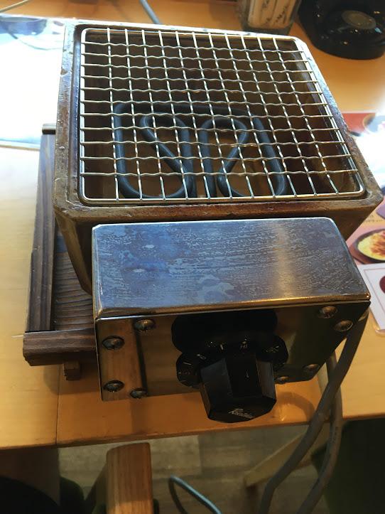 団子を焼くための電気ヒーター
