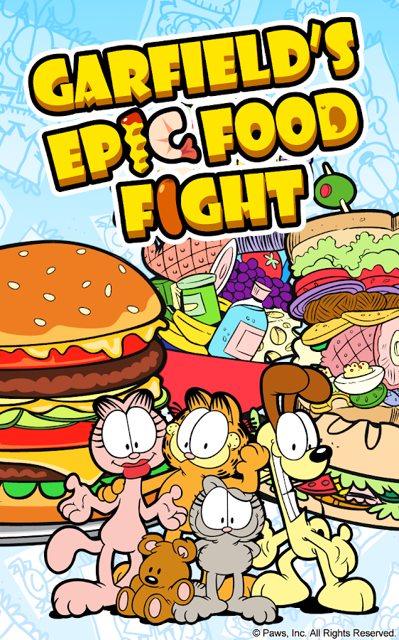 Garfield's Epic Food Fight- screenshot